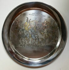 """Danbury Mint By Currier & Ives 1973 """"The Skating Pond"""" Sterling Silver Dbw"""