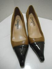AUTH CHANEL MEDIUM BROWN PUMPS HEELS  SIZE 40