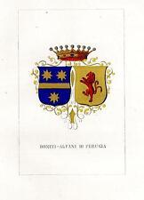 Araldica stemma araldico della famiglia Donini-Alfani di Perugia