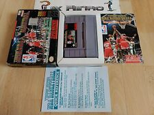 SUPER NINTENDO SNES TECMO SUPER NBA BASKETBALL COMPLETO BUEN ESTADO NTSC USA