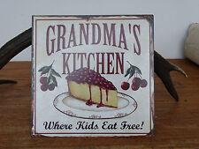 N6678 Grandma´s Kitchen - SCHILD - Blechschild - Nostalgie - Küche