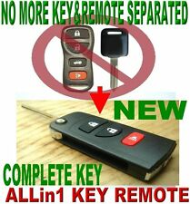 ALin1 FLIP TRANSPONDER CHIP KEY KEYLESS ENTRY TRANSMITTER REMOTE FOR NISSAN 3M2