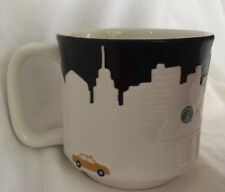 Starbucks New York City Relief 2010 Coffee mug 18 oz NYC Skyline Taxi Collection