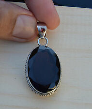 Smokey Topaz Pendant Sterling Silver Faceted High Quality Exclusive