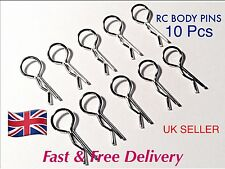 RC MODEL BODY PINS - 10pcs - - TAMIYA,  KYOSHO,  NIKKO, ,  ETC.