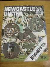 20/03/1976 Newcastle United v Manchester United  (team changes). Condition: List