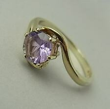 VINTAGE 9CT GOLD & AMETHYST SOLITAIRE RING