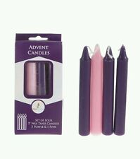 "Mega Candles Unscented 5"" Advent Taper Candles set of 4"