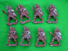 WARHAMMER  DARK ELF, WITCH ELVES x8 UNDERCOATED   1980's