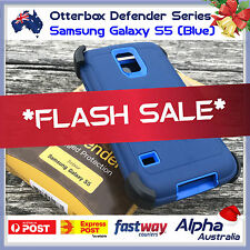 Genuine Otterbox Defender Samsung Galaxy S5 Case Cover + Belt Clip [Blue] AUS