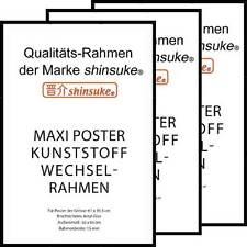 3 Stück Wechselrahmen für Maxi-Poster 15mm Kunststoff 61x91,5cm schwarz