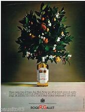 PUBLICITE ADVERTISING 105  1967  ROGER & GALLET eau de Cologne JEAN-MARIE FARINA