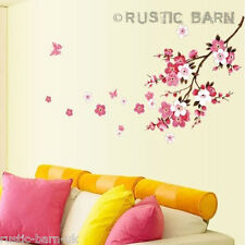 Home Decor Vinyl Wall Sticker Art Decal Pretty Pink & White Cherry Blossom