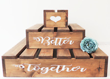 cupcake tier stand, wooden cake stand, wedding cake display, rustic wedding