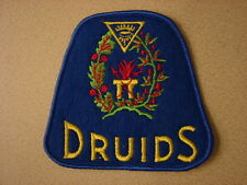 Original 1940s-1950s DRUIDS Fraternal Group Fez Hat Patch