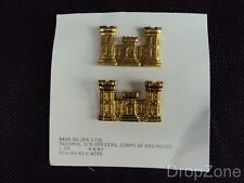 NEW US Army / Military Corps of Engineers Collar Badges Insignia