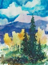 """MOUNTAINS ABOVE CREEDE""  original watercolor by American artist Micheal Jones"