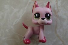 Littlest Pet Shop RARE Great Dane Dog Puppy #2583 Strawberry Mauve Pink LPS