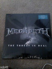 """MEGADETH THE THREAT IS REAL 12"""" SINGLE EP LP COLORED VINYL SEALED RSD"""