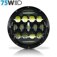 "GENSSI 7"" Round 75W LED Headlight Complete Headlamp For Hummer H2 (Pack of 1)"