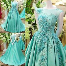 Elegant Long Women Pageant Ball Gown Formal Quinceanera Party Dress Custom Made