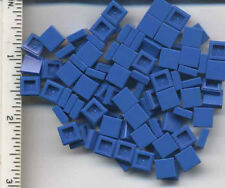 LEGO x 100 Blue Tile 1 x 1 with Groove NEW bulk lot