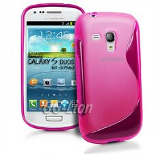 hot-pink Gel TPU Case Skin Cover for Samsung Galaxy S Duos,GT- S7562