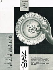 PUBLICITE ADVERTISING 014   1962   BERNARDAUD  SIVACO service MOZART