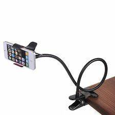 LAZZY LONG ARM METAL CLAMP LAZY MOBILE PHONE HOLDER CAR OFFICE DESK HOME FANCY