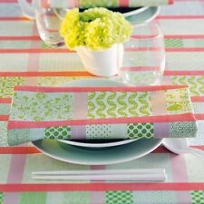 Garnier Thiebaut French TABLECLOTH Mille Ladies Porcelaine Floral Green/Pink/Red