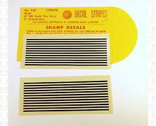 Champ HO Decals Black 6 HO Inch Stripe Set S-67