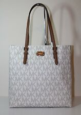 NWT MICHAEL Michael Kors Jet Set Travel Large NS Tote Handbag VANILLA