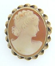 ESTATE 14 KARAT YELLOW GOLD CAMEO BROOCH / PENDANT APC-30-1 C5 VINTAGE