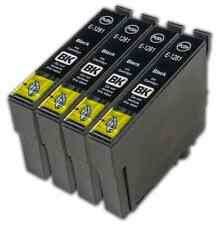 4 Black T1281 non-OEM Ink Cartridge For Epson T1285 Stylus Office BX305FW Plus