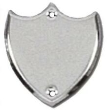 Trophy Side Shield (S006) - Silver / Chrome  - With Free Engraving