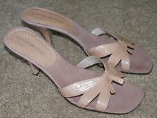 Bandolino pink leather kitten heels shoes womens size 7 M