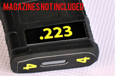 .223 MAGAZINE STICKERS fits MAGPUL PMAG 30 GEN M3  YELLOW NUMBERS 1-6