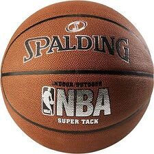 """NBA BASKETBALL OFFICIAL SIZE 29.5"""" SPALDING SUPERTACK COMPOSITE LEATHER BALL NEW"""