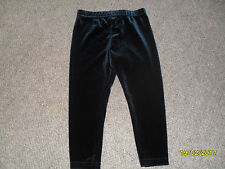 NEXT BABY GIRLS FOREST GREEN VELOUR LEGGINGS 1½-2 NEW WITHOUT TAGS