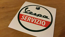 Vespa servizio italy service retro bike sticker car campervan sticker 10x10cm