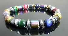 Rainbow Tiger's Eye and Magnetic Hematite  Bracelet