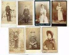 CDV PHOTOS OCCUPATIONS ETC RAILWAY PORTERS NURSE BUTCHER SALVATION ARMY 1870-90