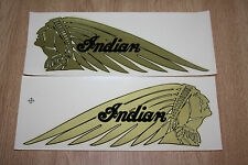 NOS VTG LARGE Indian Motorcycle Decal GOLD Scout Left & Right