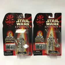 1999 Hasbro Star Wars Figure - Episode 1 TC-14 Protocol Droid X2 Sealed Cards
