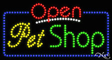 """NEW """"OPEN PET SHOP"""" 32x17 SOLID/ANIMATED LED SIGN W/CUSTOM OPTIONS 25553"""