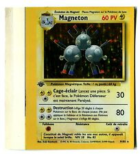 POKEMON HOLO BASE 1ed SQUARE CORNERS (UNCUT CARD) FRENCH MAGNETON (B)
