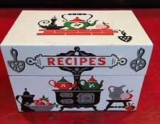 Vintage Style Craft Tin Recipe Box With Recipes