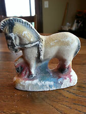 Vintage 1940's Horse Chalk Figure Carnival Prize Chalkware apx 3.5""