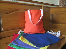 24 Bright Colored CANVAS TOTE BAGS bulk FREE S/H beach pool party supplies
