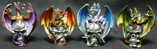 "DRAGON SKULL SET  Mini Dragon on Skulls    H3.25""  Statue Figure"